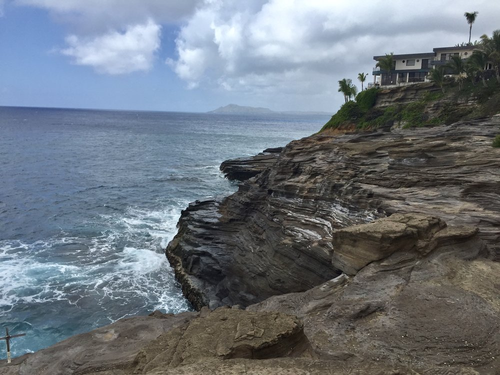 Spitting Caves Oahu