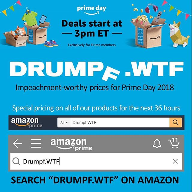 BIG NEWS: We've reduced our Amazon prices for 36 hours celebrate Prime Day! If you've been looking to get something for yourself or a friend now is the time to act. We'll also be happy if you buy nothing and give some scratch to an organization fighting Trump's agenda. #primeday #deal #couponing #couponcommunity #sale #resist #notmypresident #amazon #smallbusiness #drumpf #drumpfdotwtf #sticker #enamelpin #makeamericagayagain #feminist #equality #equalrights #motherearth #science #education #usa #freespeech #democracy