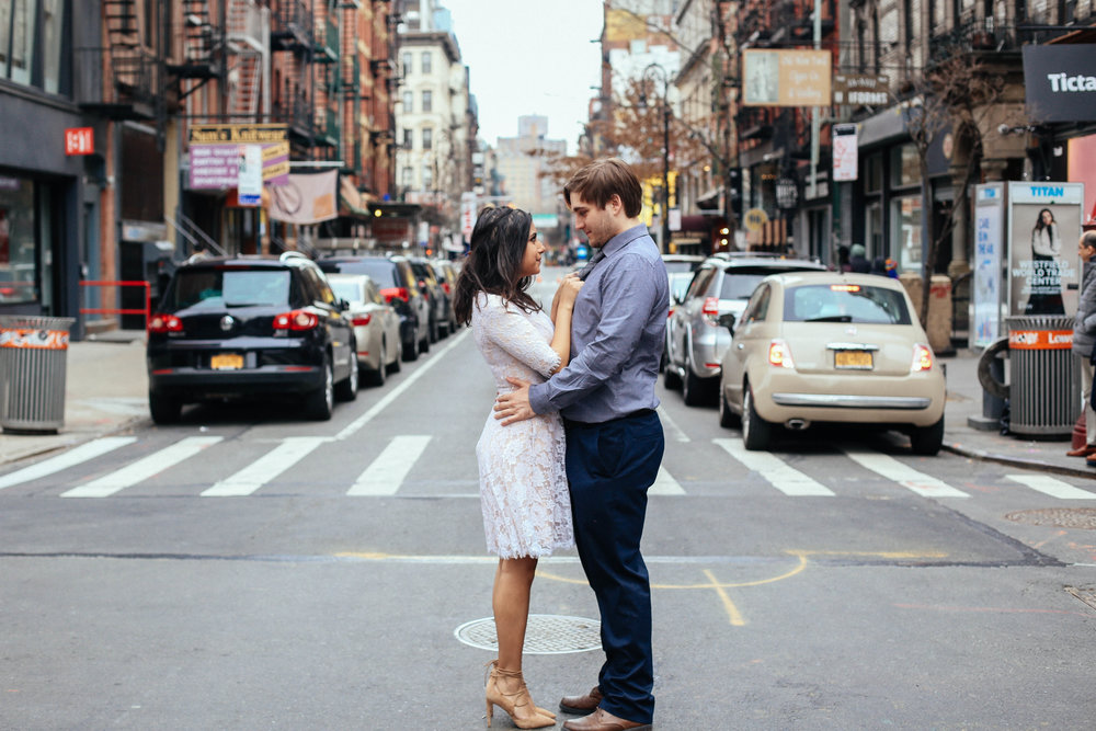 Ally + Jimmy , engagement portraits in New York City