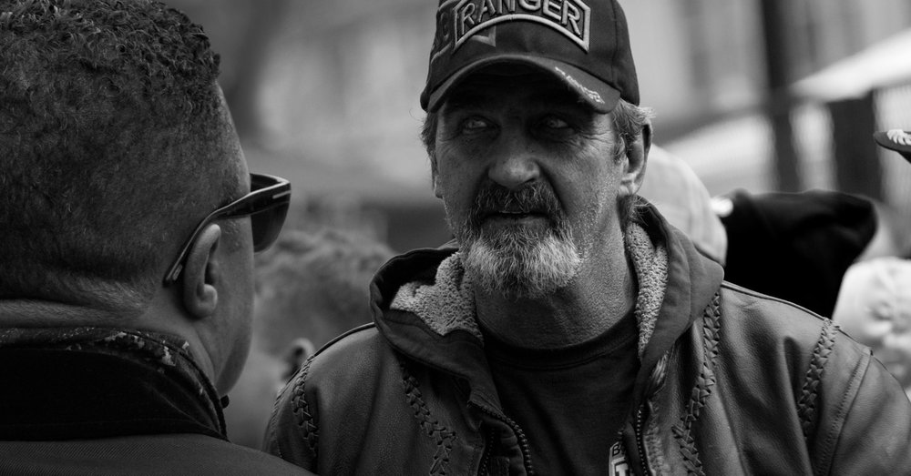 The man with the RANGER hat    .                   (56 x 106 cm - Washington - Jan 20, 2017)