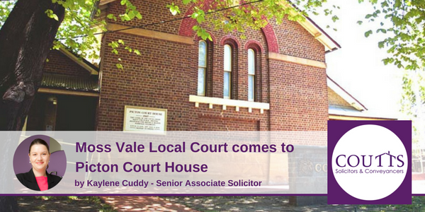 Moss Vale Local Court come to Picton Court House
