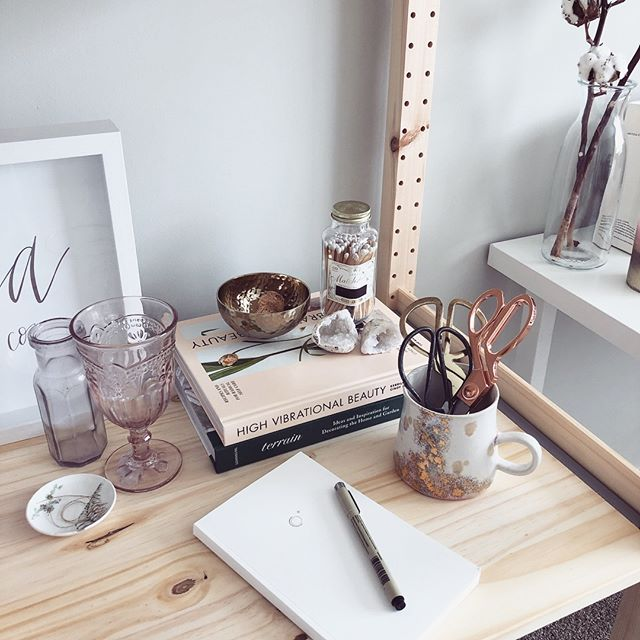 Creating a workspace where I feel inspired always helps me stay productive ✨  I'm spending some time this morning getting more comfortable in my space, and setting some intentions for the week.  Being new to running my biz full-time, self-motivating can sometimes be a challenge. What are your morning rituals that help encourage productivity?