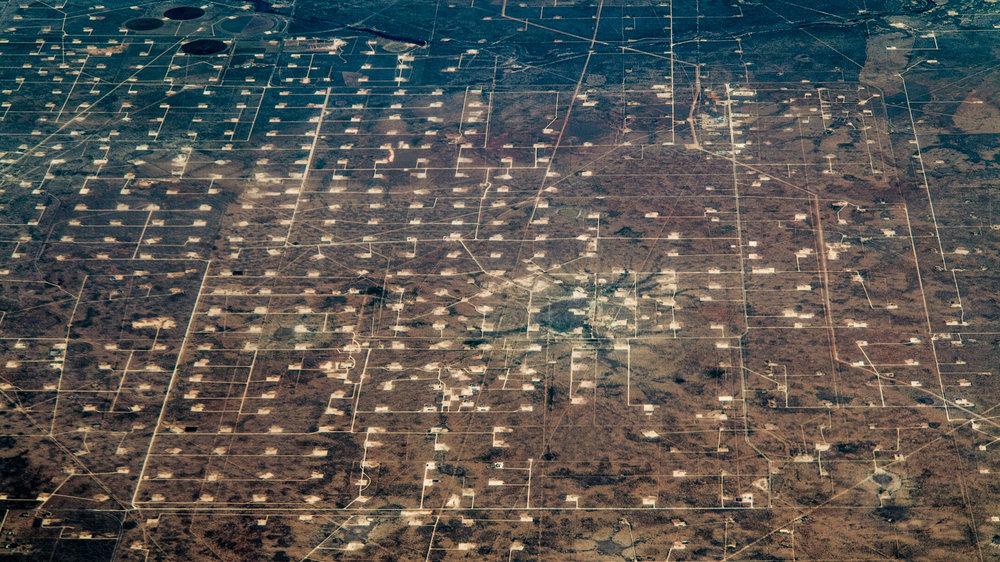 West Texas Fracking Landscape by Dennis Dimick