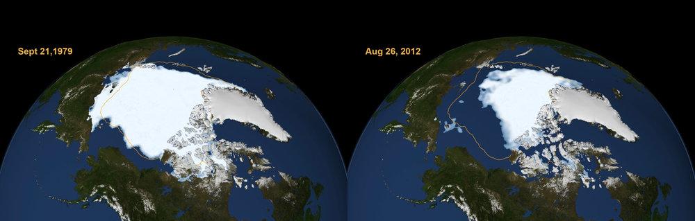 Arctic Ice Cap1979-2012