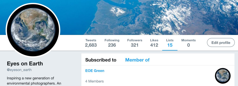 EYES ON EARTH— Twitter Lists