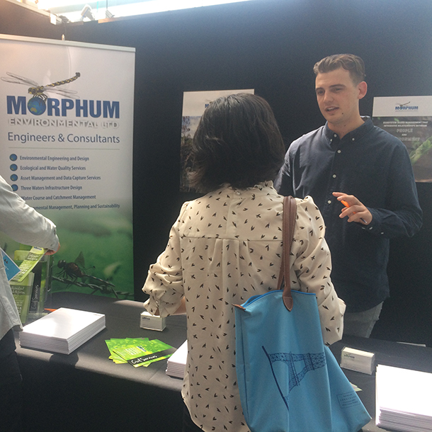 Kyle and Ollie in action talking to University of Auckland students about opportunities in Environmental Engineering.