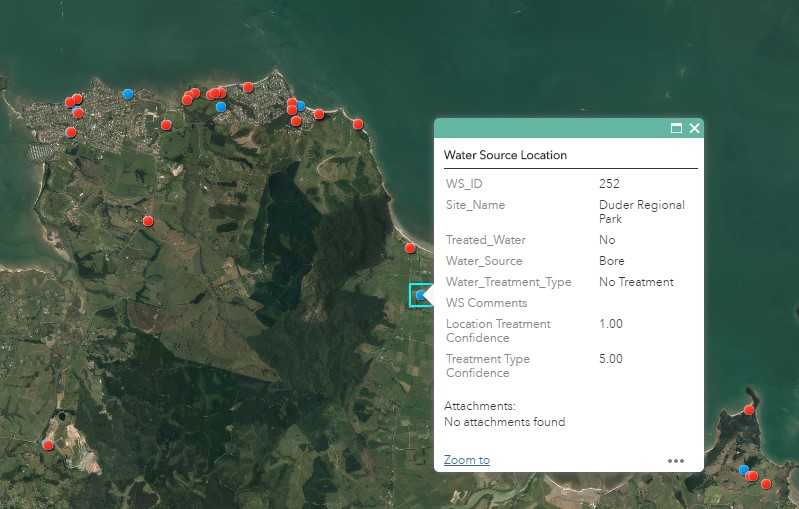Mapped asset data available through private secure ArcGIS application