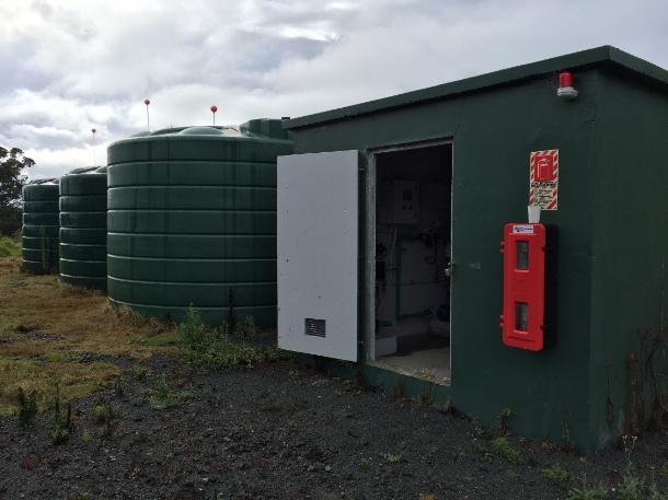 New storage and water treatment installed at Mahurangi Regional Park