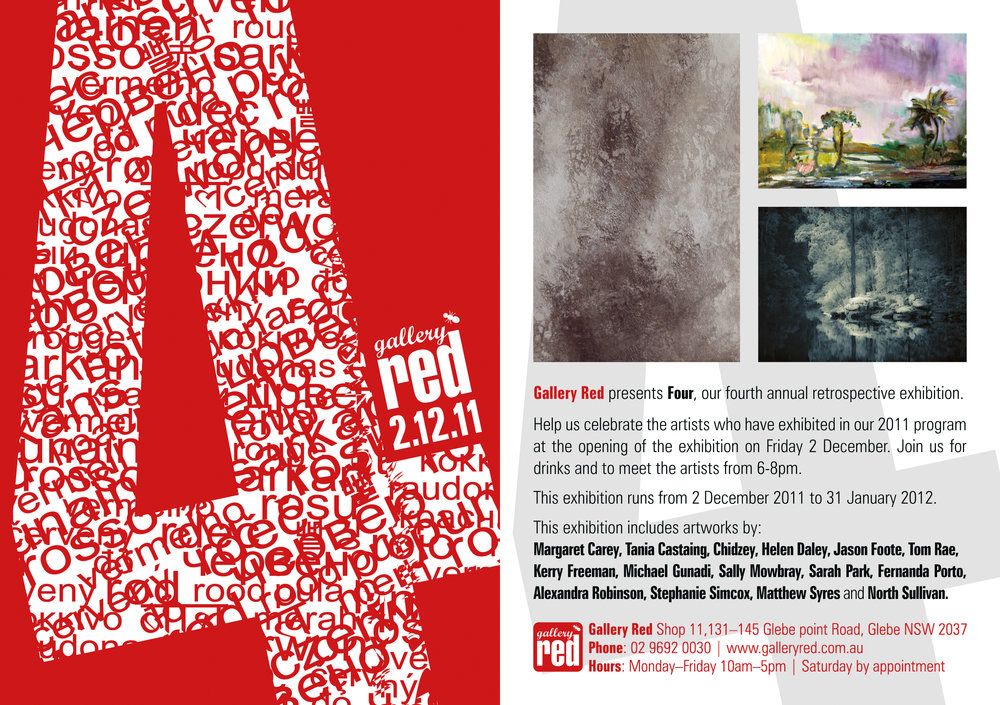 Gallery Red 4 Exhibiton Flyer
