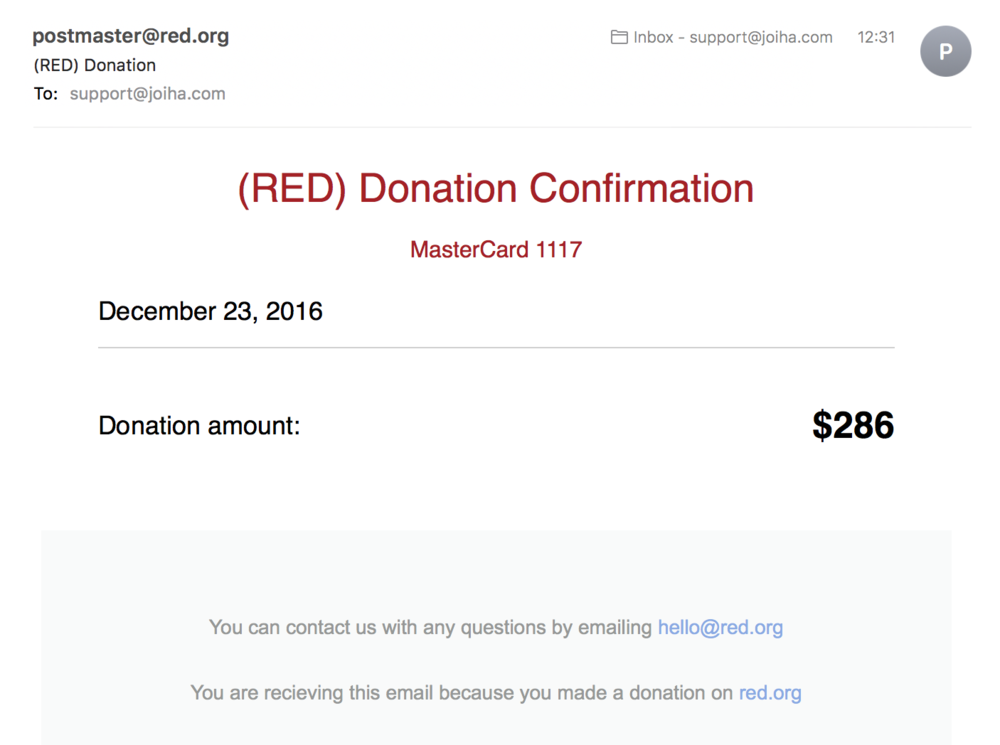 $286 goes to Red