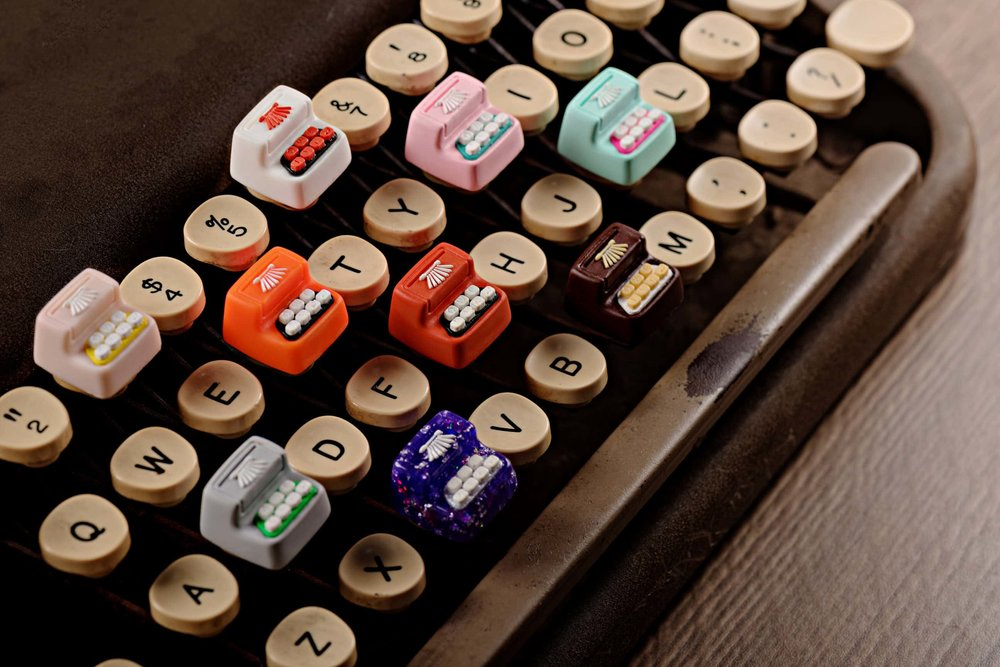 Jelly Key - Artisan keycap typewriter cherry mx 028.jpg