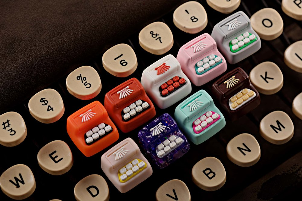 Jelly Key - Artisan keycap typewriter cherry mx 024.jpg