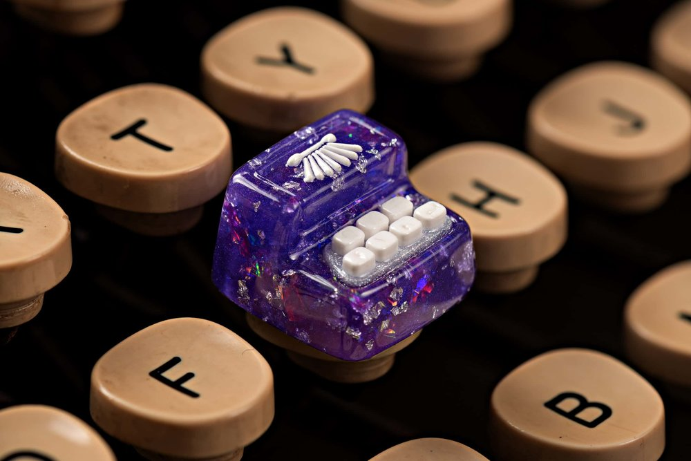 Jelly Key - Artisan keycap typewriter cherry mx 017.jpg