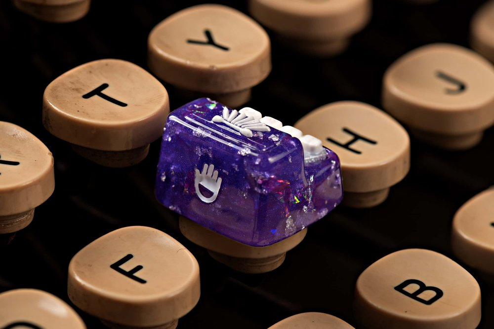 Jelly Key - Artisan keycap typewriter cherry mx 018.jpg
