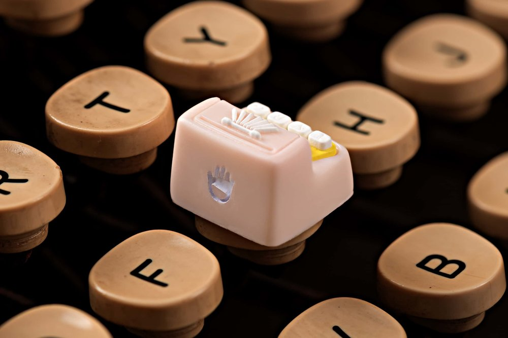 Jelly Key - Artisan keycap typewriter cherry mx 010.jpg