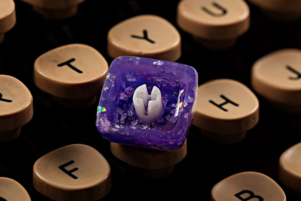 Jelly Key - Artisan keycap typewriter cherry mx new stem 026.jpg