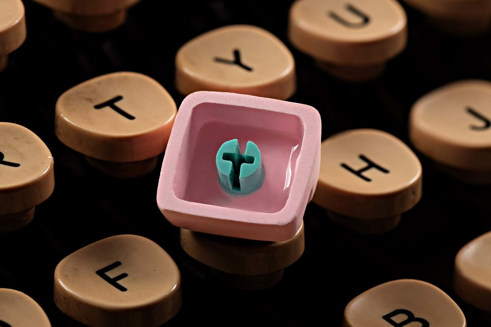 Jelly Key - Artisan keycap typewriter cherry mx new stem 020.jpg