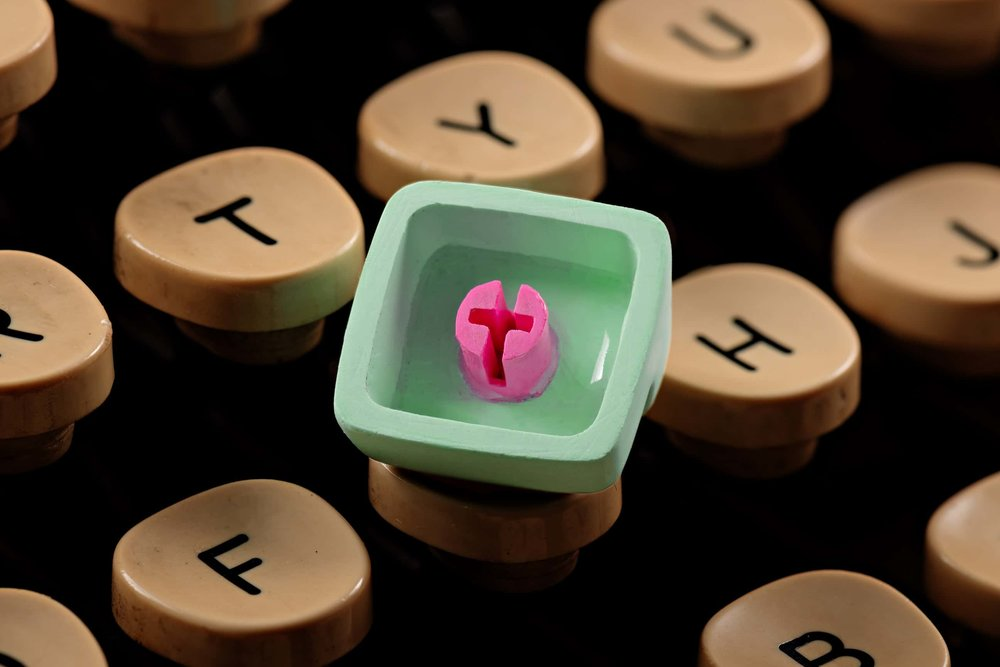 Jelly Key - Artisan keycap typewriter cherry mx new stem 009.jpg
