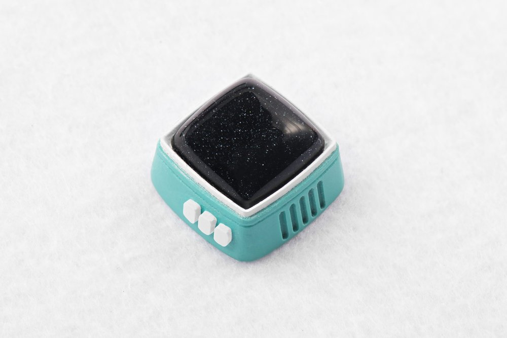 Jelly Key - RetroTV series – Fly to the moon artisan keycap 030.jpg