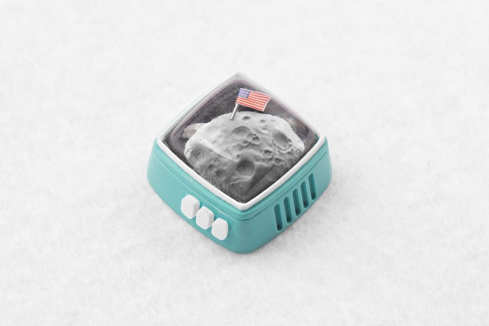 Jelly Key - RetroTV series – Fly to the moon artisan keycap 027.jpg