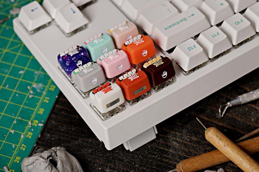 Jelly Key - Artisan keycap typewriter cherry mx 032.jpg
