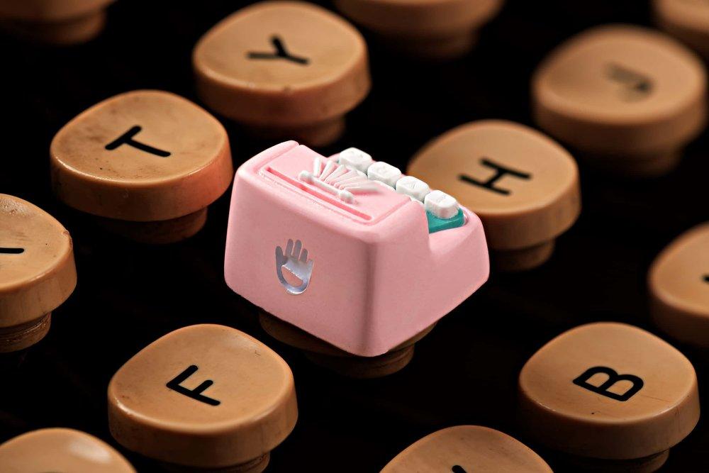 Jelly Key - Artisan keycap typewriter cherry mx 014.jpg
