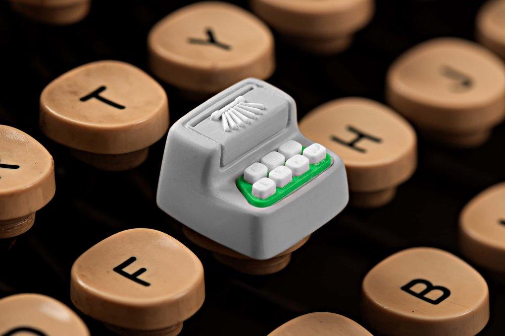 Jelly Key - Artisan keycap typewriter cherry mx 007.jpg