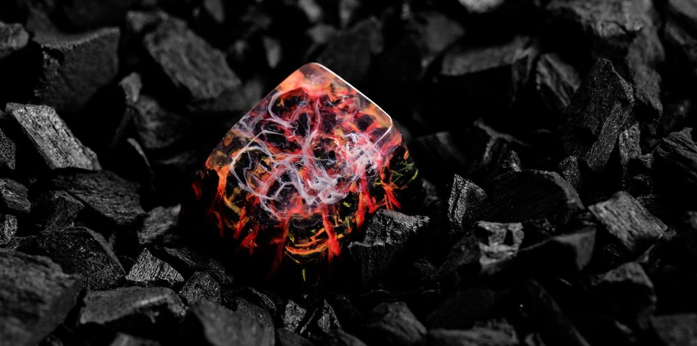 Jelly Key - Nature's Rage series - Inferno artisan keycap 021.jpg