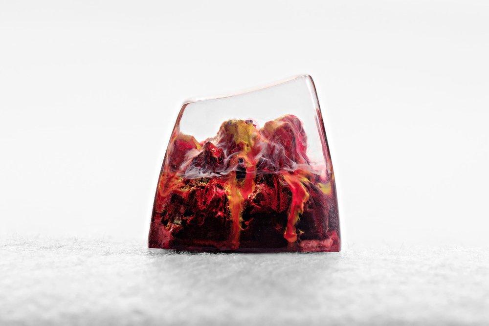 Jelly Key - Nature's Rage series - Inferno artisan keycap 002.jpg