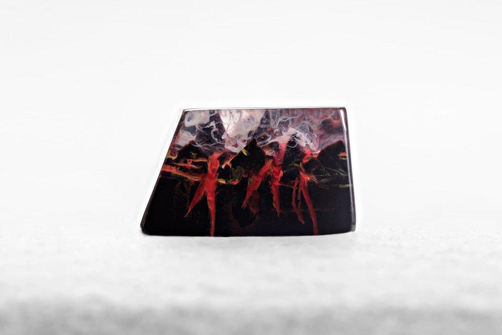 Jelly Key - Nature's Rage series - Inferno artisan keycap 008.jpg