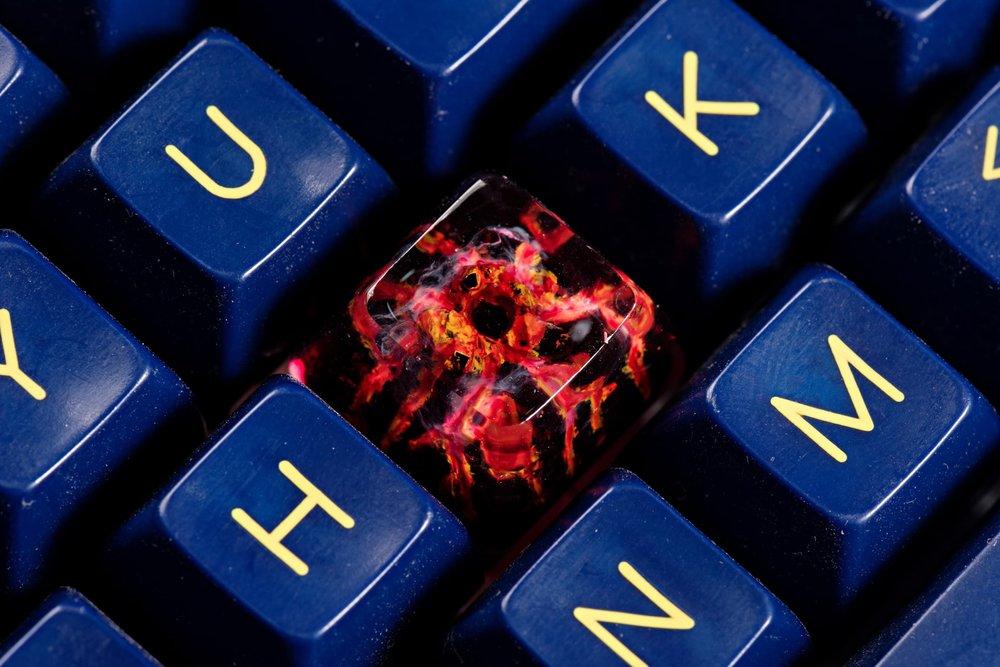 Jelly Key - Nature's Rage series - Inferno artisan keycap 033.jpg