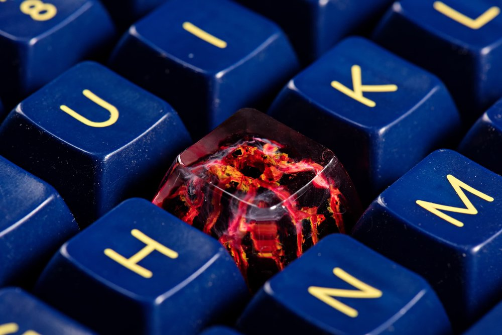 Jelly Key - Nature's Rage series - Inferno artisan keycap 034.jpg