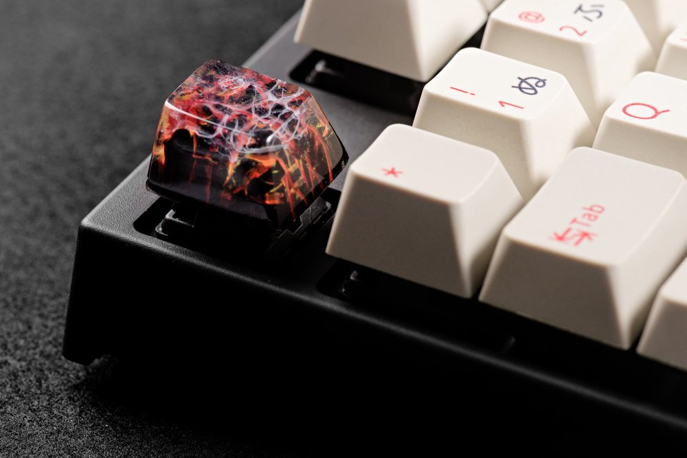 Jelly Key - Nature's Rage series - Inferno artisan keycap 042.jpg
