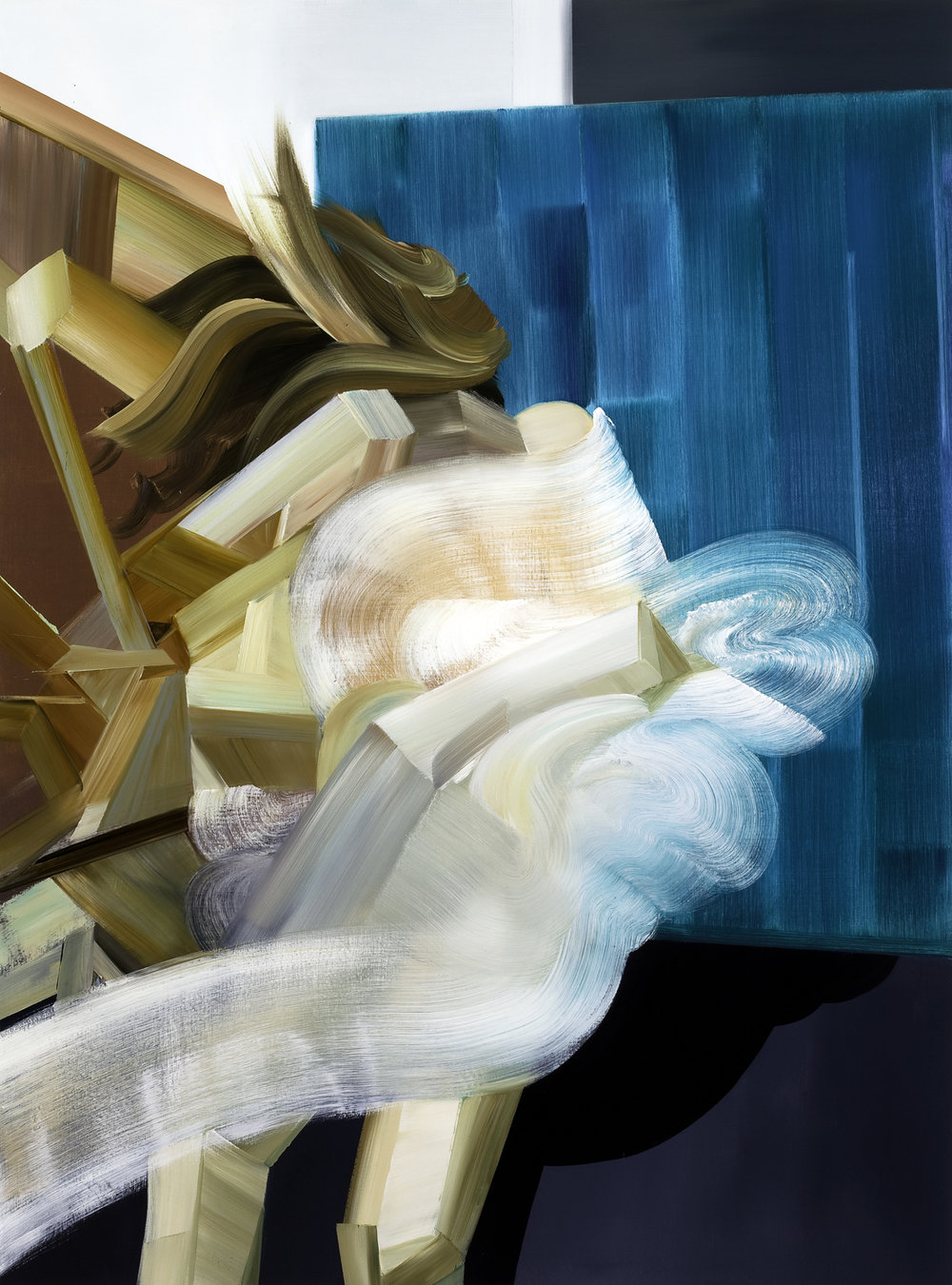 Sidestep (Woman in windstorm), 2010, oil on canvas