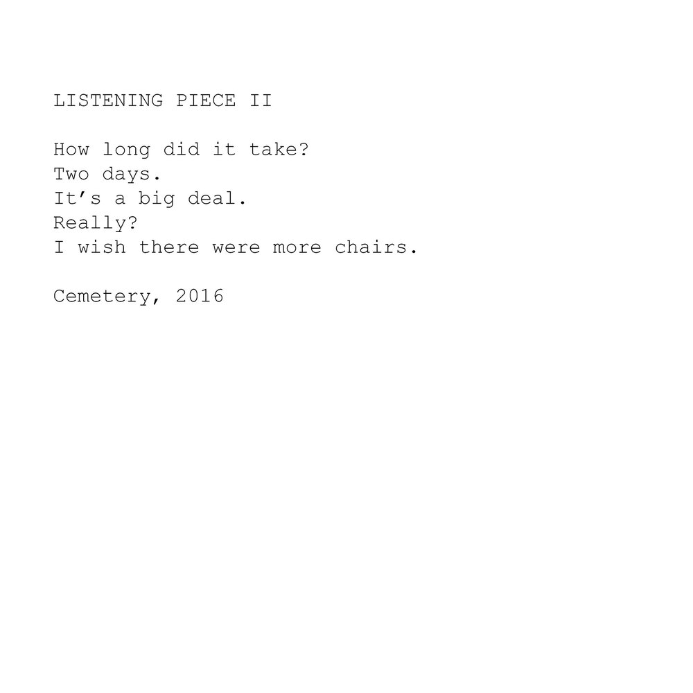 LISTENING PIECE II