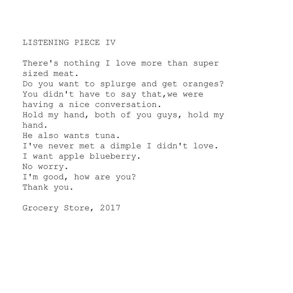 LISTENING PIECE IV