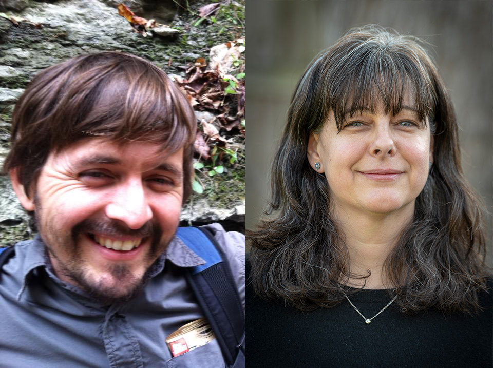 Pictured: Vince Tafolla (Campaign Assistant), left, and Susan Miller-Stigler (Campaign Coordinator), right.