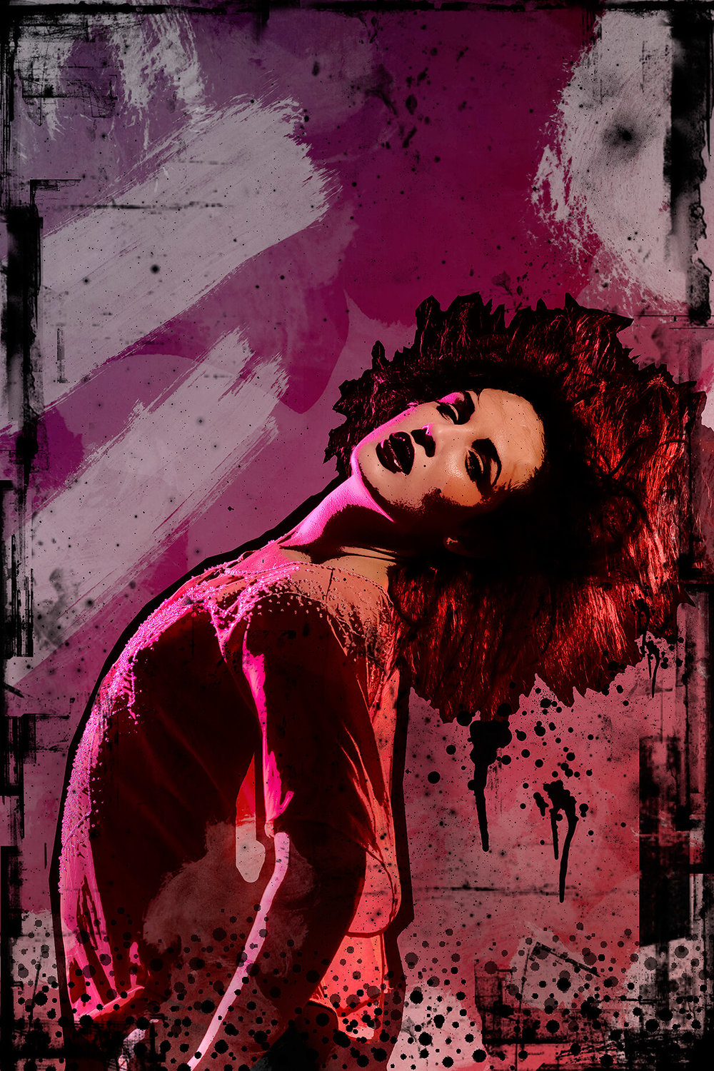 Poster style fashion photography by Melbourne Photographer Chalk Studio