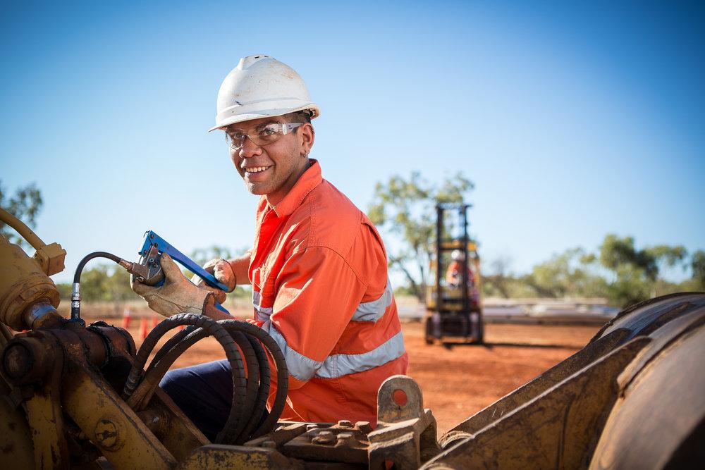 Indigenous Australian Mining Industry worker portrait photography by Melbourne Photographer Chalk Studio