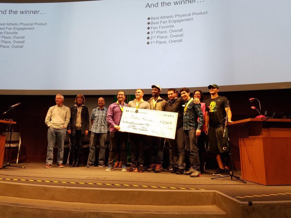 Team (left to right): Drew McGrath, Garrett Tolette, Kodi Whitfield, Alex Hill, Jacob Winkler