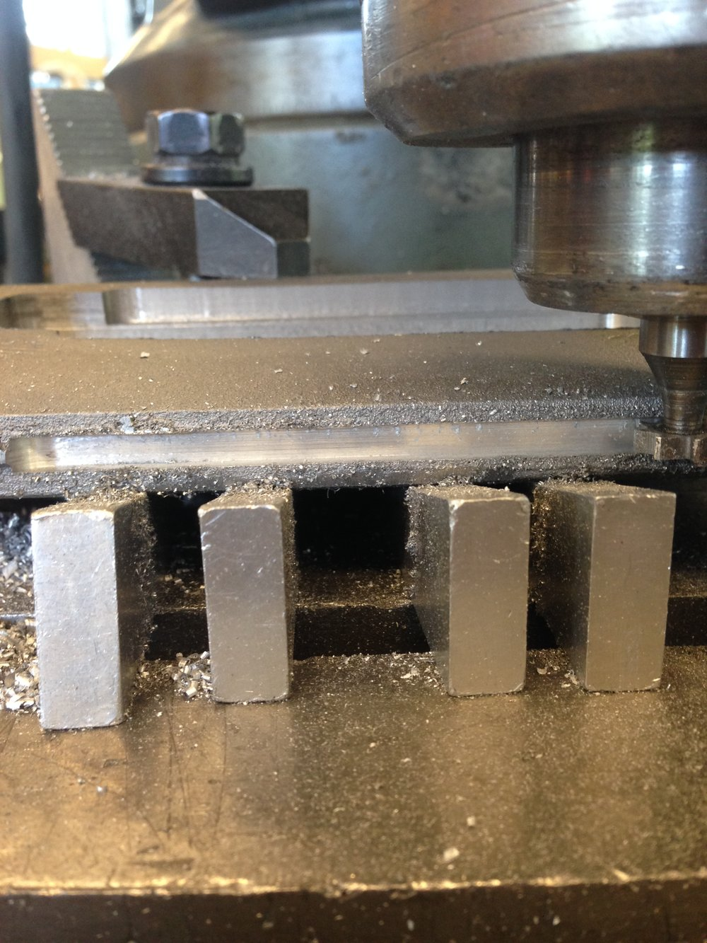Machining the light recession.