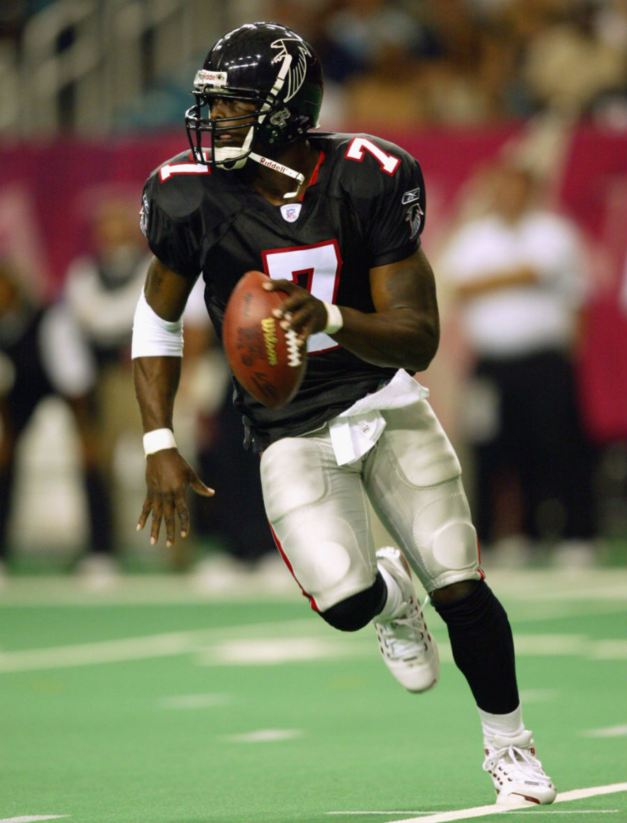 Michael Vick inspires me as a football player because he revolutionized the game at the quarterback position.
