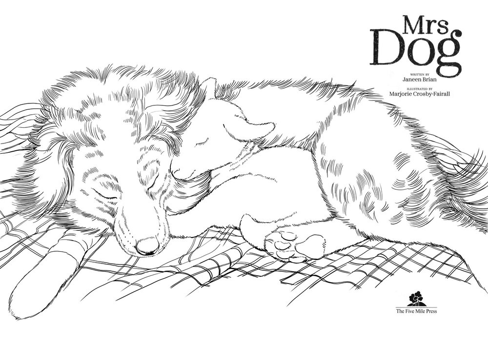 Click link below to download  Mrs Dog  colouring page.