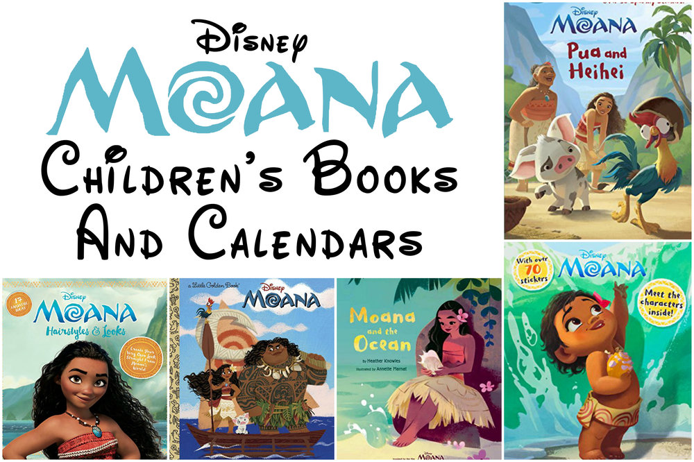 Disney Moana Childrens Books And Calendars