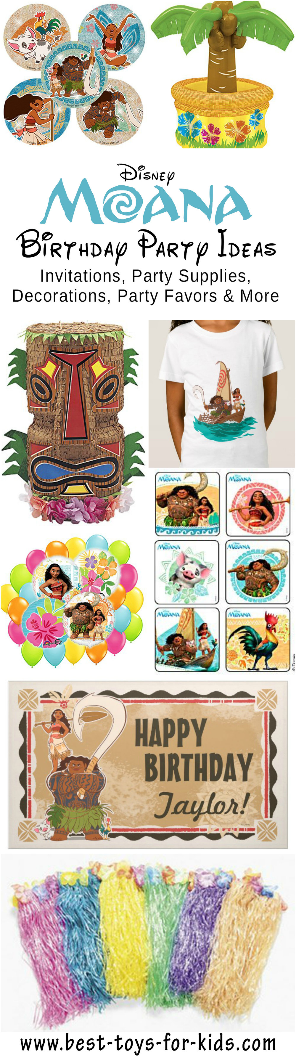 Best Disney Moana Birthday Party Ideas Fit for A Polynesian Princess ...