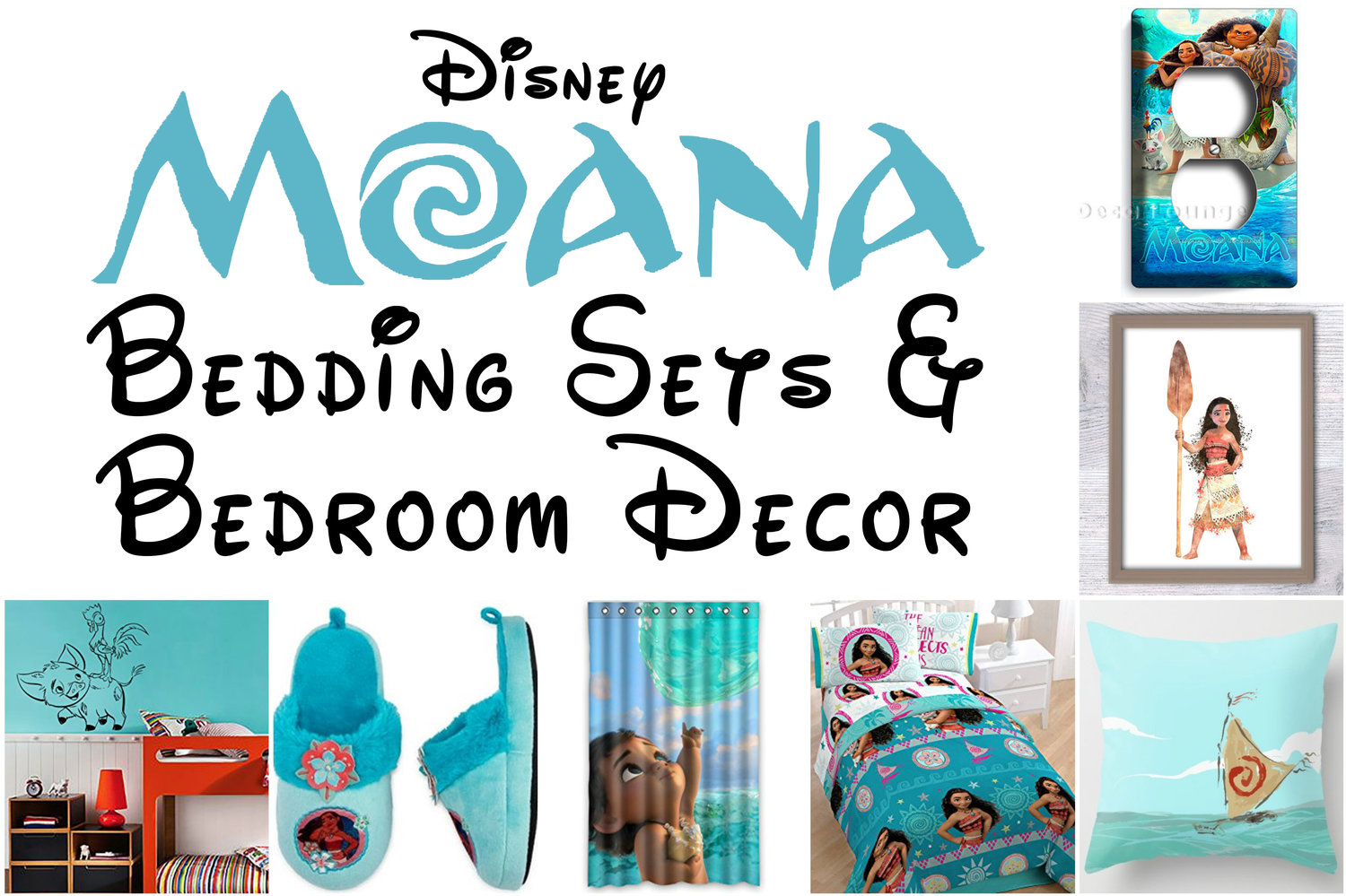 3cdc09283e7e Beautiful Disney Moana Bedroom Decor for Sweet Princess Dreams ...