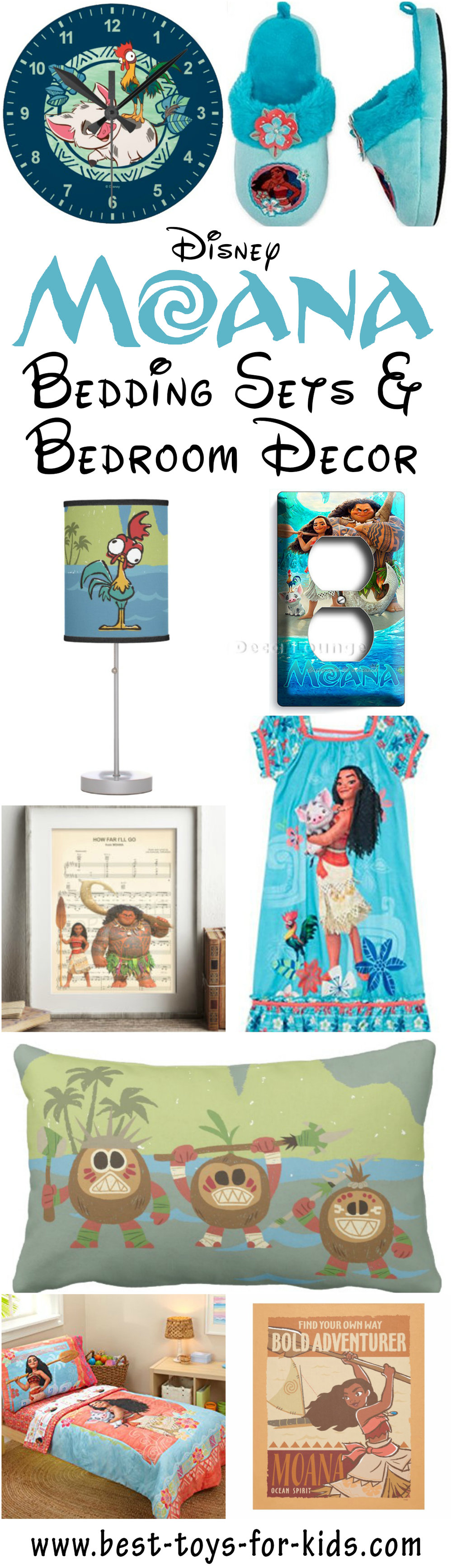 Beautiful Disney Moana Bedroom Decor
