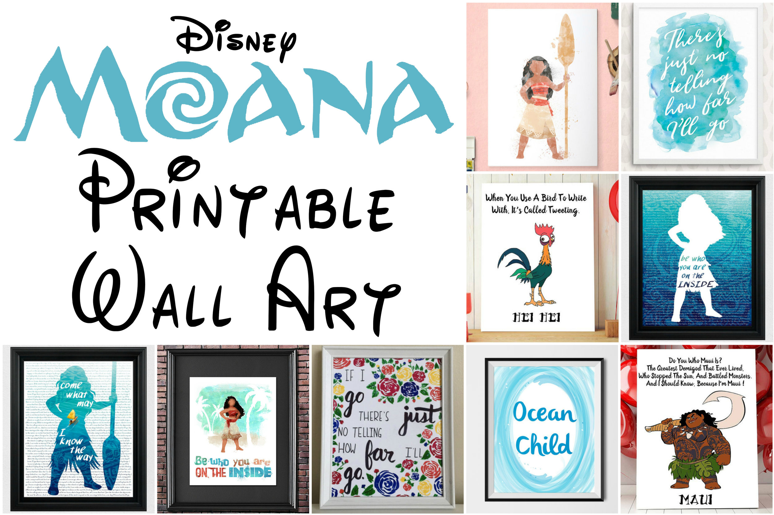 Eye Catching Disney Moana Printable Art Pictures And Wall Decor For Kids