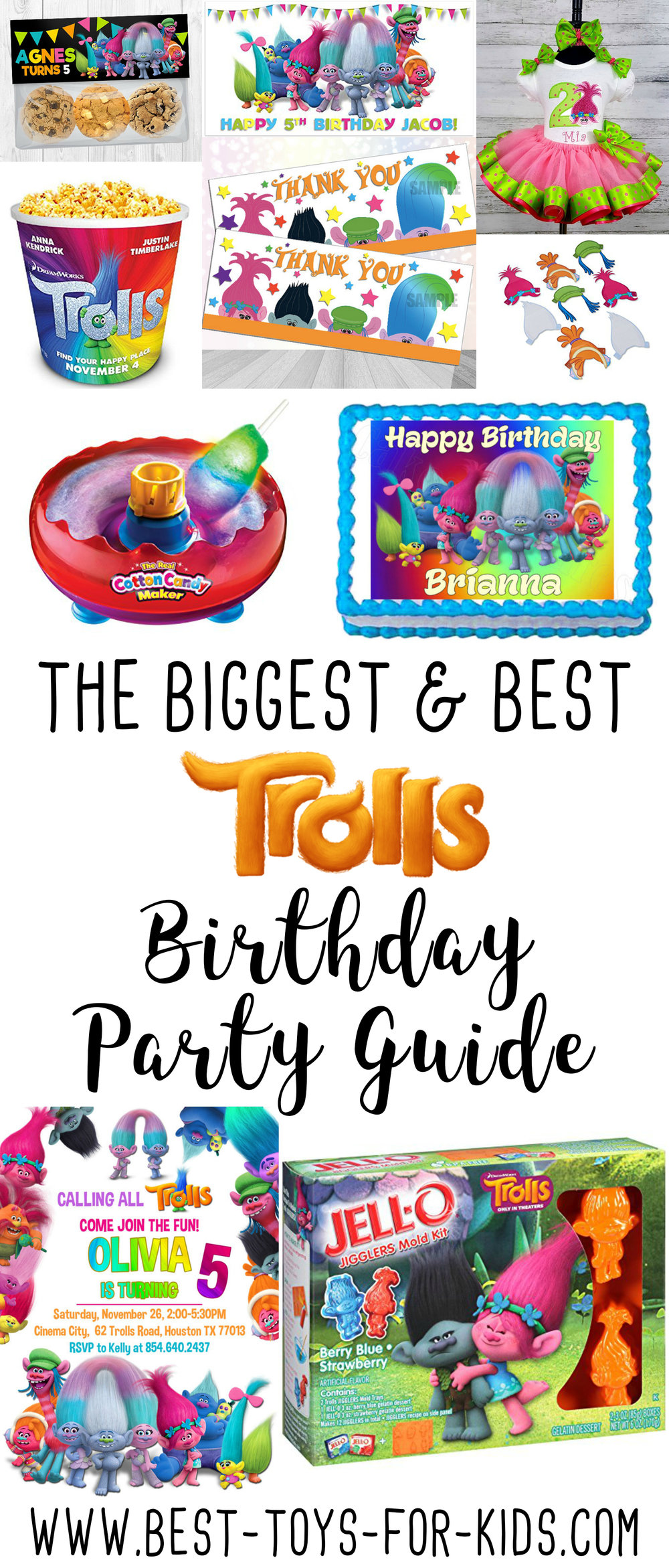 Dreamworks Trolls Birthday Party Supplies
