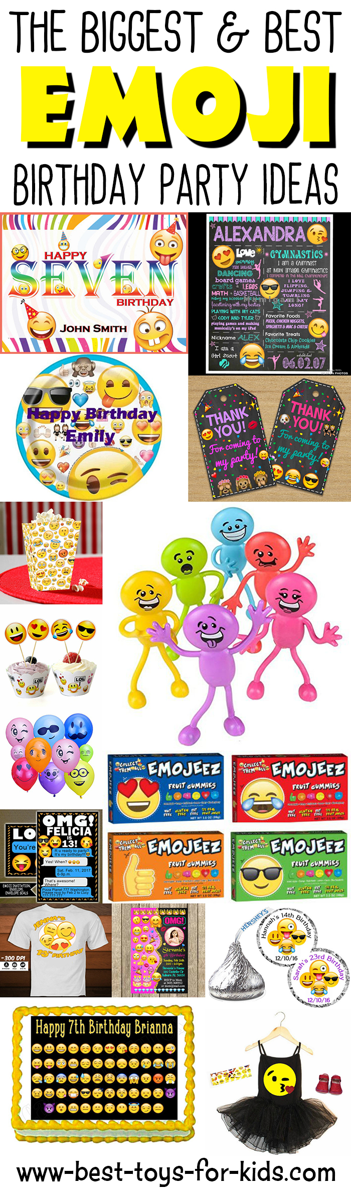 Emoji Birthday Party Ideas